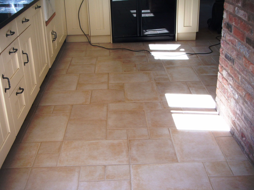 porcelain tile and grout after restoration