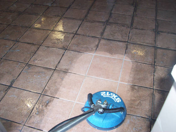 Ceramic Floor Tiles Luton Restaurant- before Cleaning